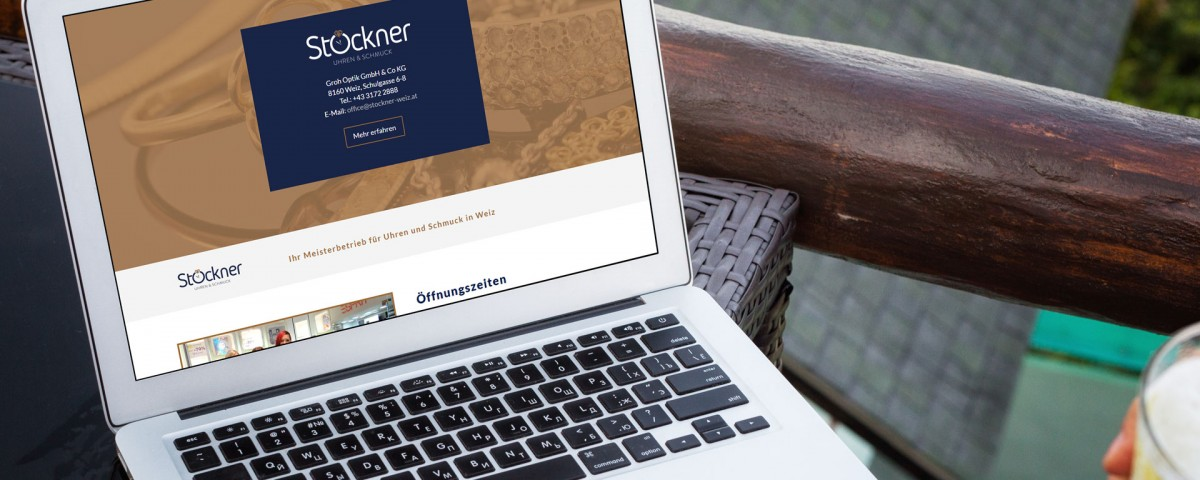Website für Stockner Weiz